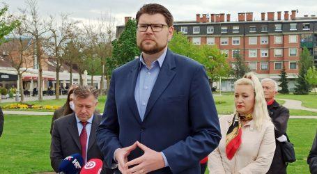 """Šef SDP-a Peđa Grbin uoči lokalnih izbora: 'Onaj koji će uvesti red u Veliku Goricu je Ivo Jelušić"""""""