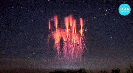 Pogledajte meteorološki fenomen, na nebu iznad Guiyanga pojavio se crveni vilenjak