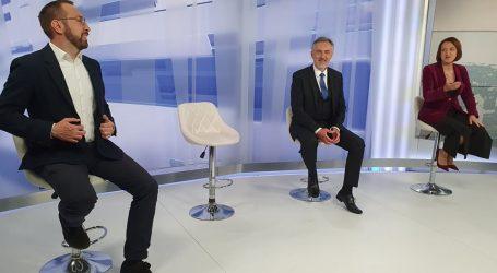 Filipović se nije pojavio na sučeljavanju, Pavičić Vukičević, Tomašević i Škoro se nadmeću oko gradskih problema