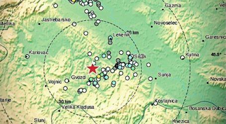 Potres jačine 3,4 kod Petrinje