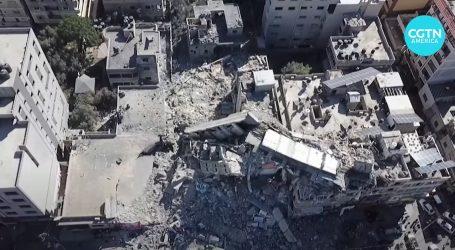 Snimka Gaze iz zraka pokazuje razinu uništenja