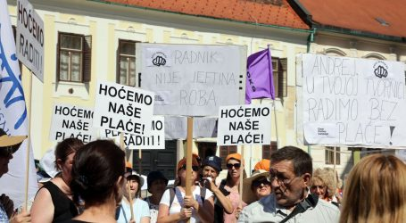 Na Markovom trgu prosvjedovale radnice požeške Orljave, primio ih ministar Darko Horvat