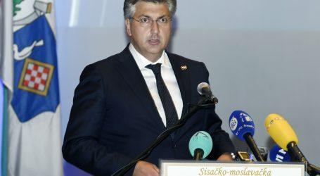 """Plenković: """"Mi smo tu da revitaliziramo Banovinu, štete ublažimo i saniramo posljedice"""""""