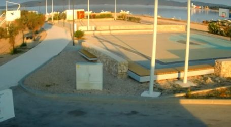 Nadzorne kamere na Brodarici zabilježile trenutak potresa kod Šibenika