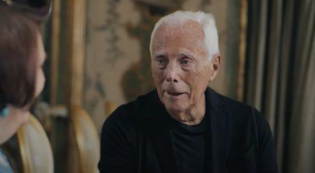 Giorgio Armani: 'Odjeća naglašava seksualnost, ali ona dolazi iz pokreta tijela, ruku, očiju'