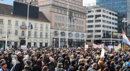 'Krik za slobodu': Tisuće u Zagrebu prosvjedovale protiv mjera, stožera i cijepljenja