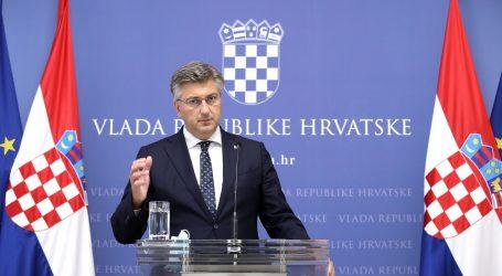 """Plenković: """"Puno je manje umrlih i hospitaliziranih, to je dobar trend"""""""