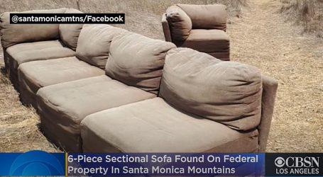 Kalifornija: U divljini zaštićenog područja rendžeri pronašli veliki kauč