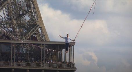 Nathan Paulin hodao na užetu od Eiffelovog tornja do trga Trocadero