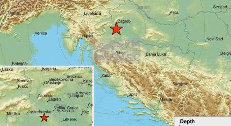 Na zagrebačkom području potres magnitude 2.7 po Richteru