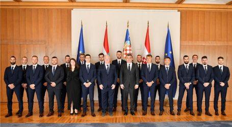 Predsjednik Milanović primio mušku rukometnu reprezentaciju, osvajače zlata na Europskom prvenstvu gluhih rukometaša