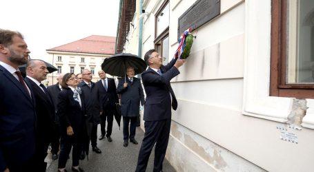30. obljetnica raketiranja Banskih dvora: Plenković položio vijenac na Spomen ploču na zgradi Vlade