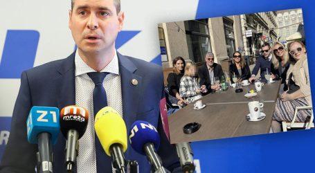 Novi šef zagrebačkog HDZ-a na kavi s kćeri bivšeg ravnatelja HRT-a koji je sinoć izašao iz Remetinca