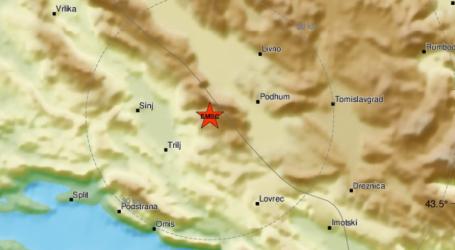 Potres od 5,1 stupanj po Richteru kod Sinja i Trilja, nema dojava o većim štetama